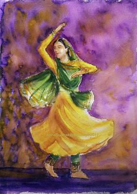 Painting - Dancer by Asha Sudhaker Shenoy