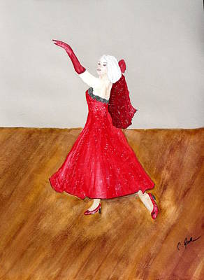 Dancer Art Print by Cathy Jourdan