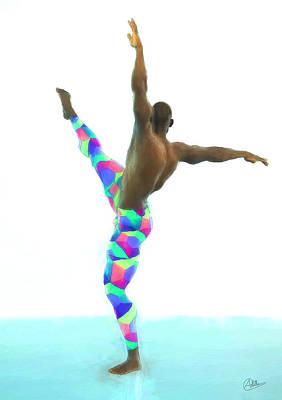 Dancer Colorful Art Print by Quim Abella