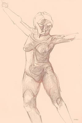 Drawing - Dancer by Denise Fulmer