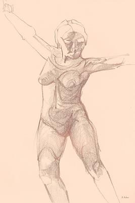 Drawing - Dancer by Denise F Fulmer