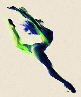 Photograph - Dancer Digital Manipulated Photo With Paint Accents Color Change by Tony Rubino