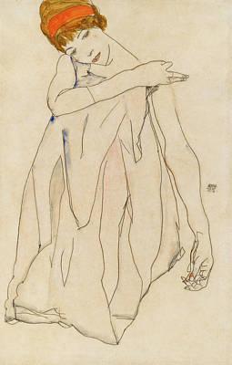 Modern Painting - Dancer by Egon Schiele