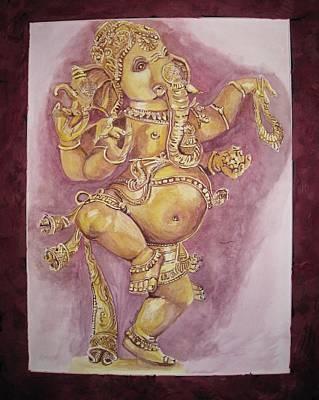 Statue Portrait Painting - Dancer Ganesha by Swarna Sitaraman