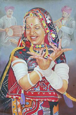Rajasthani Painting - Dancer by Govind Joshi