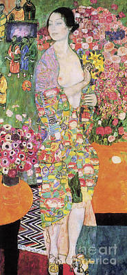 Daffodils Painting - Dancer by Gustav Klimt