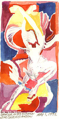 Solo Dancer Painting - Dancer In My Kitchen  by James Christiansen