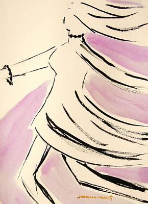 John M Williams Drawing - Dancer In Purple Lake by John Williams