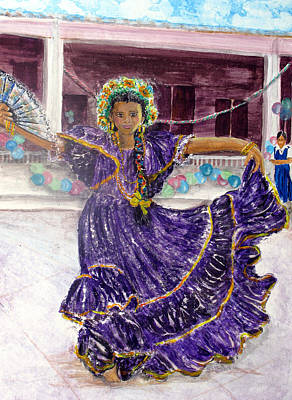 Painting - Dancer In Purple by Sarah Hornsby