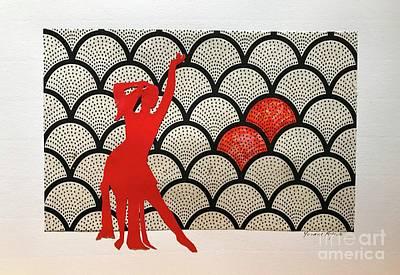 Dancer In Red 01 Art Print by Yvonne Ayoub