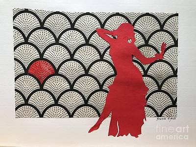Dancer In Red 02 Art Print by Yvonne Ayoub