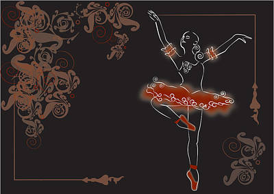 Dancer In Red Original by Denise Laurin