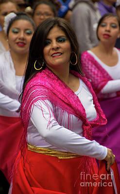 Spanish Shawl Photograph - Dancer In The Pase Del Nino Parade II by Al Bourassa