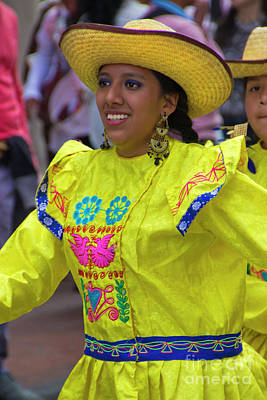 Christmas Eve Photograph - Dancer In The Pase Del Nino Parade Iv by Al Bourassa