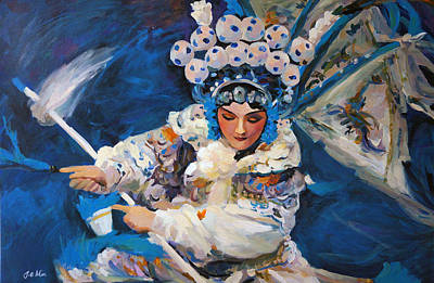 Painting - Dancer In White by Jieming Wang