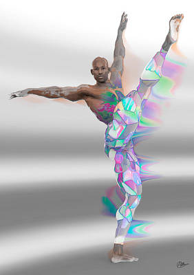 Ballet Dancers Mixed Media - Dancer Multicolored by Quim Abella