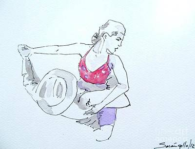 Drawing - Dancer Music by Raquel Sarangello