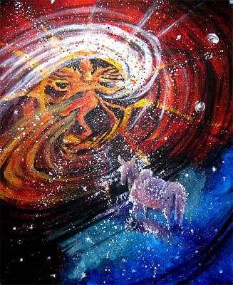 Nataraja Painting - Dancer Of Universe by Swarna Sitaraman