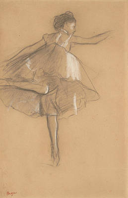 Drawing - Dancer On Pointe by Edgar Degas
