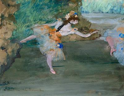Painting - Dancer Onstage by Edgar Degas