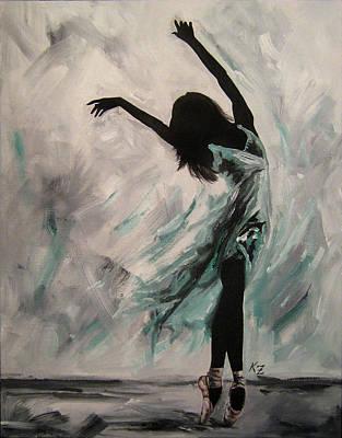 Ballerina Painting - Dancer Series - Umea by Katia Zhukova