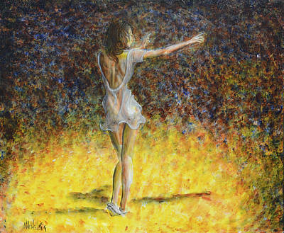 Art Print featuring the painting Dancer Spotlight by Nik Helbig
