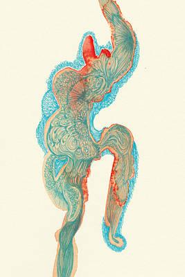 Dancer- #ss14dw023 Art Print by Satomi Sugimoto