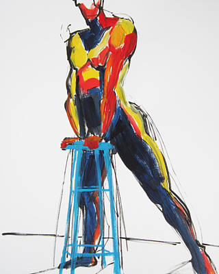 Painting - Dancer With Drafting Stool by Shungaboy X