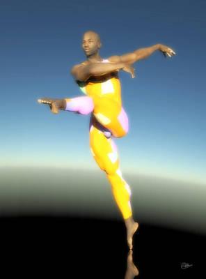 Dancer With Yellow Leotards Art Print