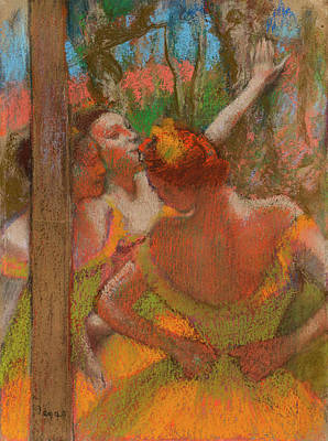 Edgar Degas Wall Art - Painting - Dancers, 1896 by Edgar Degas