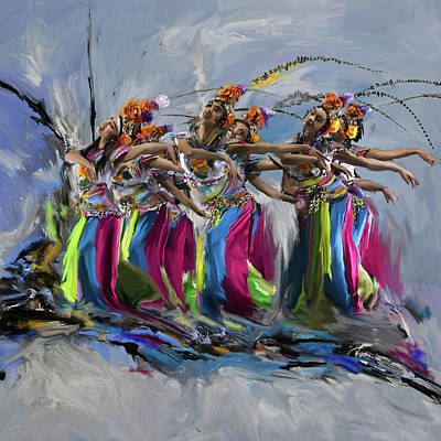 Dancers 264 1 Art Print by Mawra Tahreem