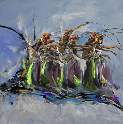Painting - Dancers 264 2 by Mawra Tahreem