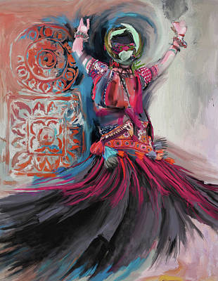 Dancers 265 3 Art Print by Mawra Tahreem