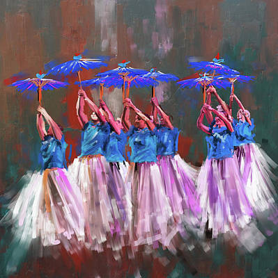 Painting - Dancers 267 1 by Mawra Tahreem