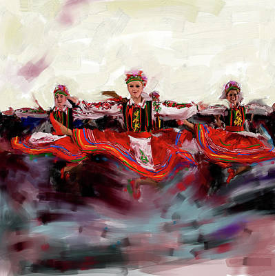 Skating Painting - Dancers 268 2 by Mawra Tahreem