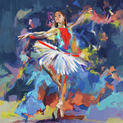Dancers 279 1 Art Print by Mawra Tahreem