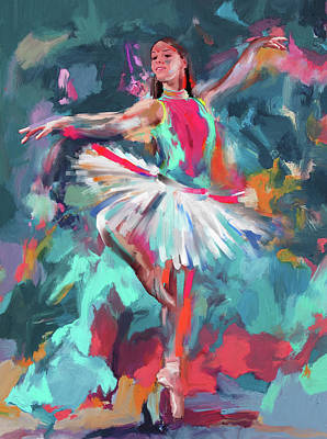 Dancers 280 2 Art Print by Mawra Tahreem