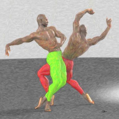 Ballet Dancers Painting - Dancers Assay by Quim Abella