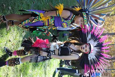 Dia De Los Muertos Photograph - Dancers Day Of The Dead  by Chuck Kuhn
