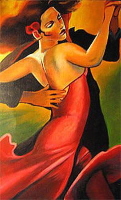 Figurative Painting - Dancers by Debora Calicchia