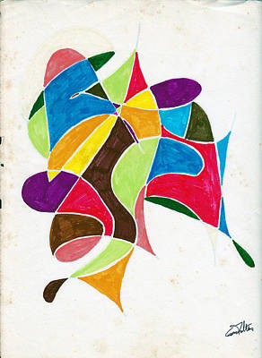 Dancers Art Print by Eugene Foltuz