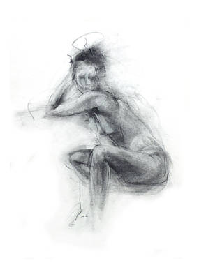 Abstract Movement Drawing - Dancer's Gaze by Christopher Williams
