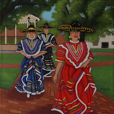 Painting - Dancers In Old Town by Gayle Faucette Wisbon
