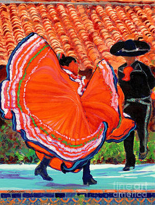 Dancers In Old Town San Diego California Art Print by RD Riccoboni