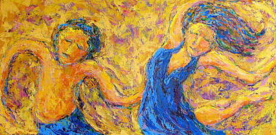 Painting - Dancers by Kat Griffin