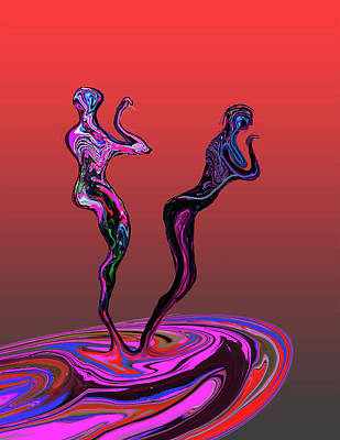 Painting - Dancers by Martin Hardy