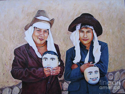Dancers Of Balam Kiej Art Print by Judith Zur