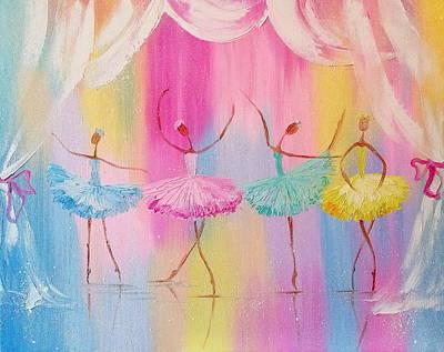 Dancers Print by Olha Darchuk
