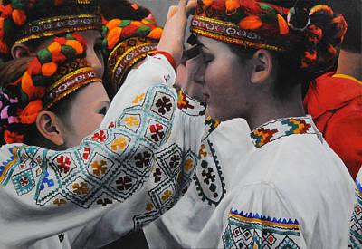 Dancers Preparing Art Print