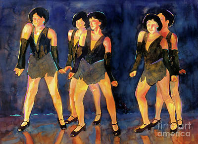 Painting - Dancers  Spring Glitz     by Kathy Braud